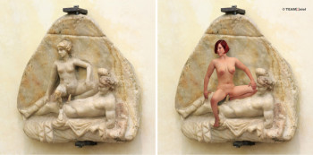ErotiCAM Gabinetto Segreto II_Marble relief with Erotic scene_Veronika Bayer