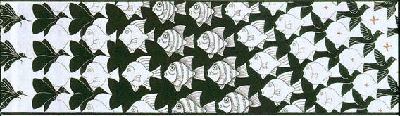Escher pittore mago for Escher metamorfosi