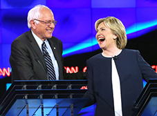 Sanders e Hillary