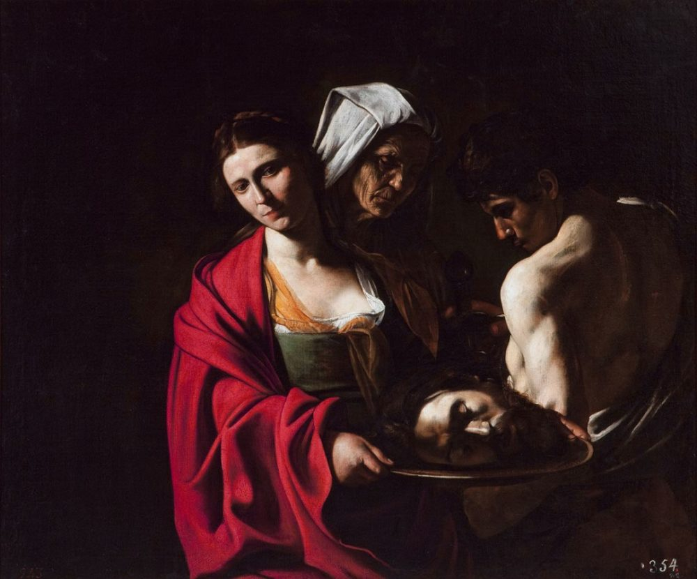 Salomé con la testa del Battista Caravaggio Madrid
