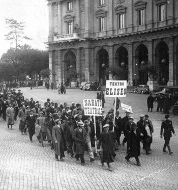 teatro eliseo sabato fascista