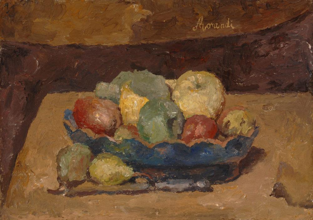 Giorgio-Morandi-Natura-morta-con-frutta-1927-olio-su-tela